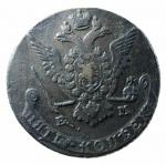 D/ Monete Estere. Russia. Caterina II di Russia. 1729-1796. 5 kopeki 1768 E M. AE.K.M.59.3. BB+.x