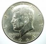 D/ Monete Estere. USA.Mezzo dollaro 1964. Ar. Peso 12,66 gr.BB+.
