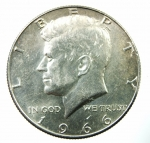 D/ Monete Estere. USA. Mezzo dollaro 1966. Ar. Peso 12,66 gr.qSPL.