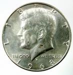 D/ Monete Estere. USA. Mezzo dollaro 1968. Ar. Peso 12,66 gr.qSPL.