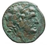 D/ Mondo Greco - Apulia. Arpi. ca 217-213 a.C. Ae. D/ Testa di Zeus verso destra. R/ Cavallo al galoppo verso sinistra, sopra una stella, sotto monogramma. Peso gr. 3,68. Diametro mm. 16,7. BB-SPL. Patina verde.