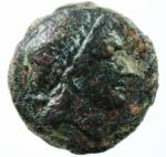D/ Mondo Greco. Apulia. Salapia. 300-225 a.C. Bronzo. D/ Testa laureata di Apollo verso destra. R/ Cavallo verso destra sopra tridente. SNG ANS 733. Peso 8.90 gr. Diametro 23,57 mm. BB+.