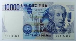 D/ Cartamoneta. Repubblica Italiana. 10.000 Lire Volta. SPL.Ottima Conservazione.s.v.