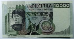 D/ Cartamoneta. 10000 lire Machiavelli. Baffi Stevani 30/10/1976. Discreto stato di Conservazione.s.v
