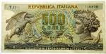D/ Cartamoneta. Repubblica Italiana. 500 Lire Aretusa. FDS.