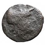 D/ Mondo Greco-Calabria. Uxentum?Ae. D/ Athena. R/ Ercole. Diametro mm 16,7. Peso gr 3,39.MB+.