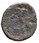 R/ Mondo Greco-Calabria. Uxentum?Ae. D/ Athena. R/ Ercole. Diametro mm 16,7. Peso gr 3,39.MB+.