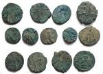 R/ Lotti - Imperatori romano-gallici. Insieme di 13 pezzi in Ae. Intonsi con belle patine e in ottima conservazione.
