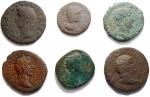 D/ Lotti - Mondo Romano. Lotto di 6 esemplari in Ae. Notato dupondio di Nerone
