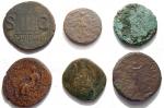 R/ Lotti - Mondo Romano. Lotto di 6 esemplari in Ae. Notato dupondio di Nerone