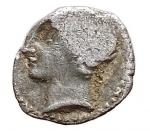 D/ Celti - Gallia. Massalia. (Marsiglia).385-220 a.C. Obolo. Ag. SNG COP.94-98. Peso 0,68 gr. Diametro 9,97 mm. qBB.