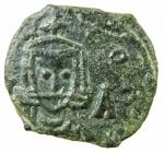 D/ Bizantini. Leone V. 813-820 d.C. Follis. AE. D/ Busto di Leone V frontale. R/ Costantino frontale. Sear 1637. Peso 2,65 gr. Diametro 20,00 mm. SPL. Patina.