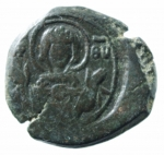 D/ Bizantini. Alexius I Comnenus. 1081-1118 d.C. Tetarteron. Æ. Thessalonica o Cipro. Sear 1909. Peso 4,20 gr. Diametro 24,00 mm. BB.po