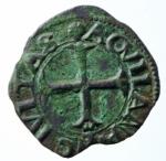 D/ Zecche Italiane. L'Aquila. Carlo VIII re di Francia. 1495. Cavallo. CU. MIR 105. BB. Incrostazioni.x