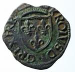 R/ Zecche Italiane. L'Aquila. Carlo VIII re di Francia. 1495. Cavallo. CU. MIR 105. BB. Incrostazioni.x
