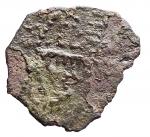 R/ Zecche Italiane -Bari.Ruggero II. 1105-1154.Follaro, con la Madonna orante.AE.B. 308.Pesogr. 0,92.qBB.RR.