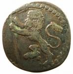 D/ Zecche Italiane. Bologna. Alessandro VIII. 1689-1691.Quattrino 1690. Æ. D/ Scritta.R/ Leone rampante. M. 42; B. 2194. Peso gr. 2,15. Buon BB.