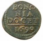 R/ Zecche Italiane. Bologna. Alessandro VIII. 1689-1691.Quattrino 1690. Æ. D/ Scritta.R/ Leone rampante. M. 42; B. 2194. Peso gr. 2,15. Buon BB.