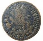 R/ Zecche Italiane. Bologna. Clemente XI. Mezzo Bolognino 1714. Munt.217. Peso 6,25 gr. MB+.po