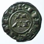 R/ Zecche Italiane. Brindisi. Enrico VI. 1190-1198. Denaro. MI. D/ AP. R/ Croce. Sp. 30. Peso gr. 0.90. SPL.x