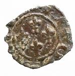 D/ Zecche Italiane - Brindisi o Messina.Carlo I d'Angiò. 1266-1282.Denaro con quattro gigli.MI.SP 41. MIR 348.Peso gr. 0.59.BB-SPL. R.