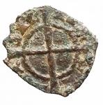 R/ Zecche Italiane - Brindisi o Messina.Carlo I d'Angiò. 1266-1282.Denaro con quattro gigli.MI.SP 41. MIR 348.Peso gr. 0.59.BB-SPL. R.