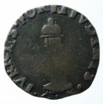 D/ Zecche Italiane. Castiglione delle Stiviere. Ferdinando I. 1616-1678. Soldo. AE. MIR 221/2 var. Schiacciature da conio, altrimenti BB. RR. x