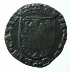 R/ Zecche Italiane. Castiglione delle Stiviere. Ferdinando I. 1616-1678. Soldo. AE. MIR 221/2 var. Schiacciature da conio, altrimenti BB. RR. x
