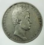 D/ Casa Savoia. Carlo Alberto. 5 Lire 1836. Ar. Genova. Gig.63. Peso 24,70 gr. BB.