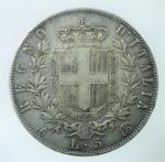R/ Casa Savoia. Vittorio Emanuele II. 1861-1878. 5 lire 1865 Napoli. AG. Pag. 486. BB. Colpetti.R.