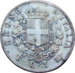 R/ Casa Savoia. Vittorio Emanuele II. 1 Lira 1863 T Stemma. Ag. BB/SPL . NC. rf