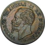 D/ Casa Savoia. Vittorio Emanuele II. 1 Centesimo 1862N. Cifra 1 su 2. qFDC. Rame parzialmente Rosso. NC. rf