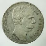 D/ Casa Savoia. Umberto I. 1878-1900. 5 lire 1879. AG.Cfr. Pag. 590. BB\BB+.
