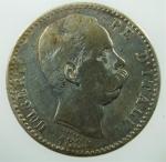 D/ Casa Savoia. Umberto I. 2 Lire 1884. Ag. Roma. Peso 10,00 gr. Diametro 27,50 mm. qBB.