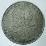 R/ Casa Savoia. Umberto I. Colonia Eritrea. 5 lire o Tallero 1891. Ag. Gig 1. qBB. Colpetti. R.