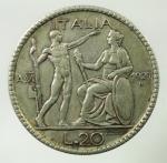 R/ Casa Savoia. Vittorio Emanuele III. 20 Lire Littore 1927 Anno VI. Gig.36. Peso 14,95 gr. BB.