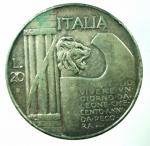 R/ Casa Savoia. Vittorio Emanuele III. 20 Lire 1928. Montenegro 76-M148-P680. MB\BB. NC.