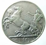 R/ Casa Savoia. Vittorio Emanuele III. 1900-1946. 10 lire 1926 Biga. Ag. Migliore di BB. R.