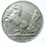 R/ Casa Savoia. Vittorio Emanuele III. 10 Lire 1927. Ag. Gig.56. BB+\BB. NC.