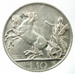R/ Casa Savoia. Vittorio Emanuele III. 1900-1943. 10 lire 1930. AG. Pag. 695. BB+\SPL. R.