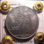 R/ Repubblica Italiana. 100 lire 1960. FDC. Periziata Simone Rocco di Torrepadula. rf