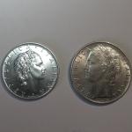 D/ Repubblica Italiana. 50 e 100 lire 1963. Lotto di due esemplari. FDC-qFDC. rf