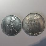 R/ Repubblica Italiana. 50 e 100 lire 1963. Lotto di due esemplari. FDC-qFDC. rf