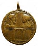 D/ Medaglie - Roma. Medaglia giubilare 1750. AE.D/ La Scala Santa. R/ SS: Pietro e Paolo. Peso gr 44,06. Diametro mm 49,9. Completa e in buone condizioni. R.