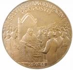 R/ Medaglie. Vaticano. Giovanni XXIII. 1965. SALVTIFERAM ORBI PACEM PROPOSVIT. Ae. FDC.