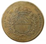 D/ Medaglie. Francia. Luigi XV. Gettone. Municipalità di Digione 1733. Cu. Peso 9,50 gr. Diametro 30,00 mm.BB+.
