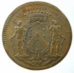 R/ Medaglie. Francia. Luigi XV. Gettone. Municipalità di Digione 1733. Cu. Peso 9,50 gr. Diametro 30,00 mm.BB+.