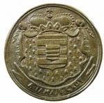 R/ Medaglie. Francia. Luigi XV. 1715-1774. Philippe Alexandre Emmanuel di Croy-Solre. 1676-1723.Gettone.1719. Ae.Dugn. 4880. De Coster 714. Peso 12,45 gr. Diametro 32,00 mm.SPL.