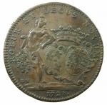 D/ Medaglie. Francia. Luigi XV. Burgundia. Gettone 1728.COMITIA BURGUNDIAE ROBUR ET DECUS NOVUM. Peso 9,55 gr. Diametro 31,00 mm.SPL.