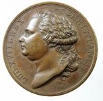 D/ Medaglie. Luigi XVIII. 1814-1824. Medaglia 1814. DEI GRATIA ET VOTO GALLORVM. Cu.Inc.De paroy. Diametro 40,00 mm. FDC. ex Kunst und Munzen A.G. Lugano.R.